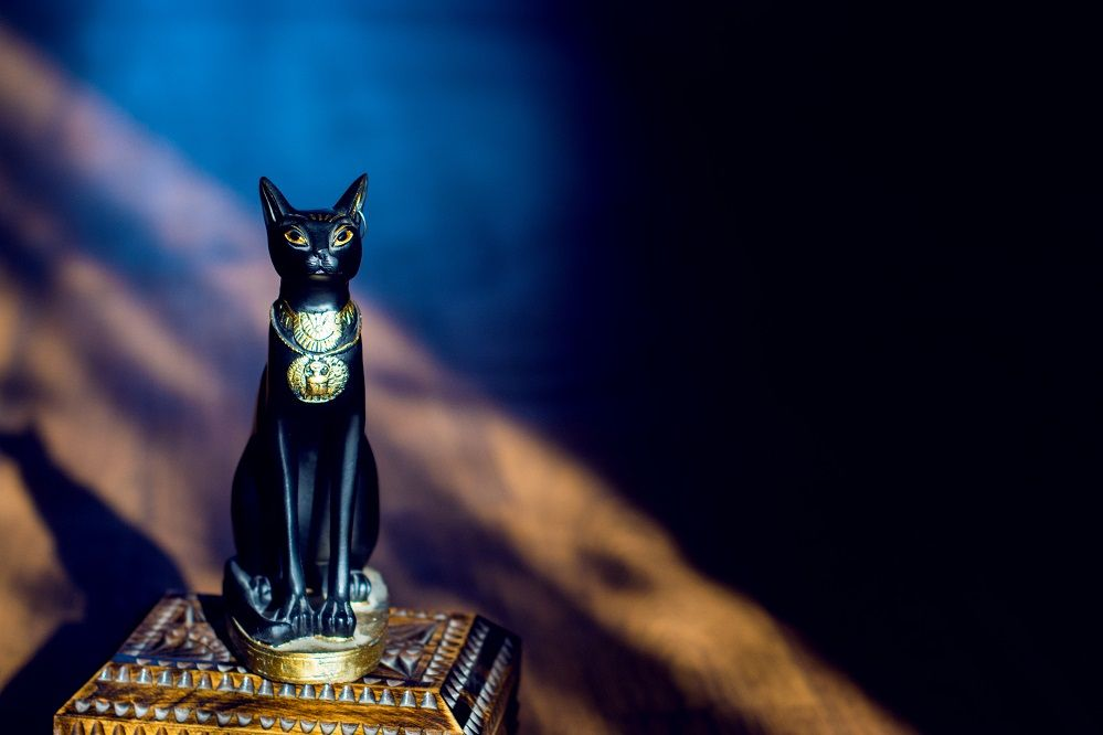 Rare Egyptian Bastet Cat Memorial Urn